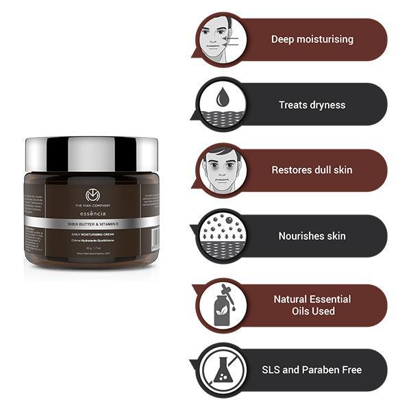 The Man Company Daily Moisturising Cream - Shea Butter & Vitamin E 50 gm