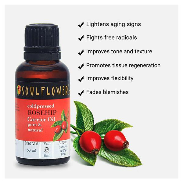 Soulflower Coldpressed Carrier Oil - Rosehip 30 ml
