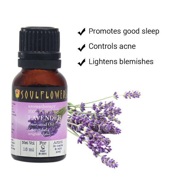 Soulflower Essential Oil - Lavender 15 ml