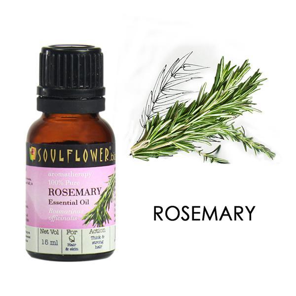 Soulflower Essential Oil - Rosemary 15 ml