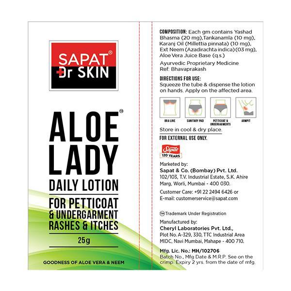 Sapat Dr Skin Aloe Lady Daily Lotion 25 gm