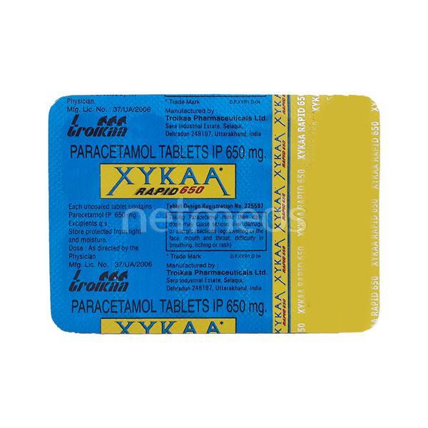 Xykaa Rapid 650mg Tablet 10'S